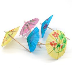 Bolo de papel de madeira decorativa palito Cocktail Umbrella