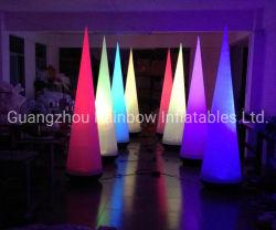 3m de hauteur Oxford gonflable cône d'éclairage LED pour l'événement