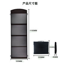 Складные портативные солнечная панель 80W 100 Вт солнечного зарядного устройства USB-выход питания зарядного устройства