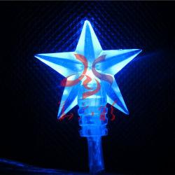 최신 판매 일반적인 크리스마스 나무 훈장 크리스마스 별 장신구 빛