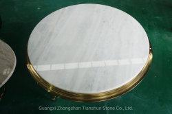 """تخفيضات ساخنة في الصين 3"""" سميكة مستديرة بيضاء مطبخ سلاب أعلى الطاولة"""