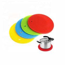 FDA Nahrungsmittelgrad-rutschfeste flexible haltbare Silikon-Wannen-Auflage-heiße hitzebeständige Tisch-Küche-starke Filterglocke-Platz-Matte Vielzweck