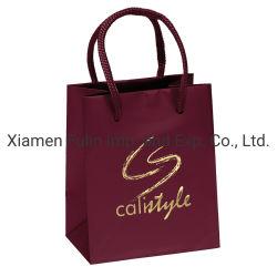 Design de moda logotipo personalizado impresso de Embalagem Papel Artístico Puxador Corda Sacola de Compras sacos do Transportador