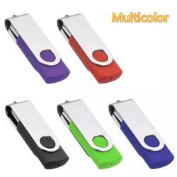 4 Go 8 GO de 16Go et 32 Go à 64 Go de 128 Go USB 2.0 Lecteur Flash USB pivotant Memory Stick pouce Pen U de disque