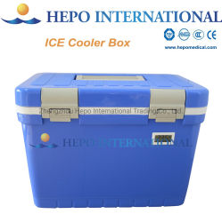 温度計(HP-ICB12)が付いている携帯用医学のワクチン接種の輸送の氷のクーラーボックス
