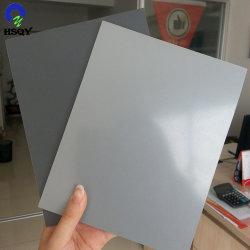 2-25mm gris de PVC rígido de plástico rígido de la junta de la hoja de PVC gris