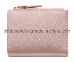 Personalidade de moda feminina colchete curto Wallet Coin Bolso com fecho de correr