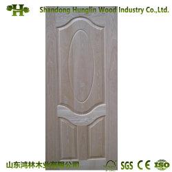 Китай из естественной древесины зерна HDF двери из шпона кожи