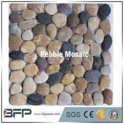 De natuurlijke Tegel van het Mozaïek van de Kiezelsteen van de Steen met Ovale Vorm