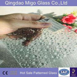 6 mm de verre à motifs trempé clair