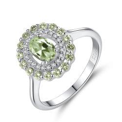 S925 серебряных украшений Vintage цвет кольца драгоценных камней
