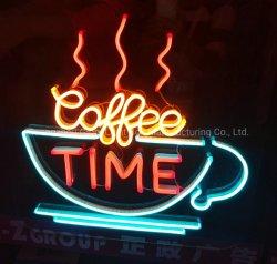 전시 광고를 위한 방수 네온 LED 커피 열려있는 표시