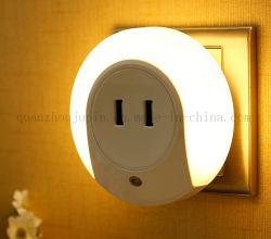 맞춤형 판촉 자동 LED 야간 조명(USB 소켓 포함