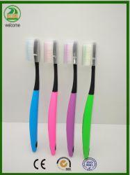Premium Soft colorido -fin cerdas cepillo de dientes adultos tapa gratis