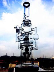 Commerce de gros de 12 pouces recycleur de haute qualité du tabac Honeycomb Tall bol en verre de couleur de l'artisanat les tuyaux de verre cendrier bécher grisant barboteur Handcrafted Glaze-Glass Oi unique