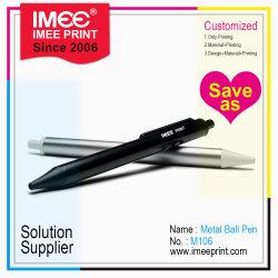 Impressão a laser personalizada de logotipo Imee Metal Plástico Ballpen Ponto Esfera Esferográfica Oferta Promocional