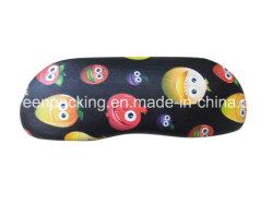 Kundenspezifischer eindeutiger Digital-Druck auf Metalbrille-Kasten-Leder Df3