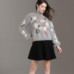 2019 nueva moda señoras Mohair Jersey Jersey de punto Tejidos Jacquard