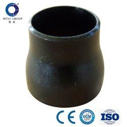 Sch40 forgée en acier au carbone à 180 degrés de polissage du raccord de tuyau coude réducteur de tuyaux en acier noir