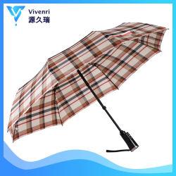 Promoção o logotipo personalizado imprimindo 3 vezes de vento muda de cor Umbrella Publicidade