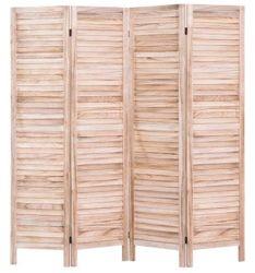 Жалюзи деревянные складные зал делитель экраны естественные цвета