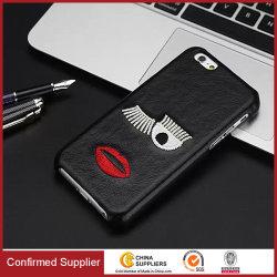 Noble design elegante padrão de bordado PU Leahter caso do telefone móvel para iPhone 6s 7