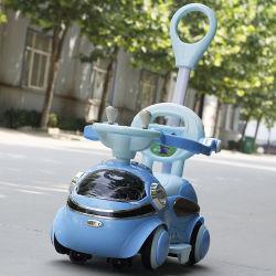 Coche de la batería de energía eléctrica a los niños juguetes eléctricos con la barra de empuje