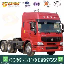 Utilisé 371HP 6X4 Heavy Duty HOWO Sinotruk remorque de camion tracteur tête tête camion tracteur 10xtires cheval pour la Namibie/Tanzanie/Cameroun/l'Éthiopie