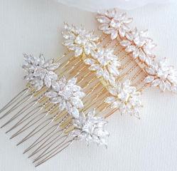 Boda CZ Cabello peine, cabello nupcial peine, boda, secador de accesorios, Accesorios de Cabello de novia