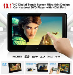 """10,1"""" HD Logement actif dans le lecteur de DVD APPUI TETE AVEC FM, IR, USB, SD, HDMI, écran tactile, de jeu sans fil"""