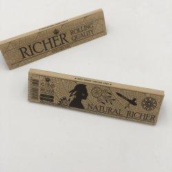 Pacchetto Kraft Formato King Sottile Organic Hemp Carta Da Arrotolamento Per Sigarette Con Punte Filtro