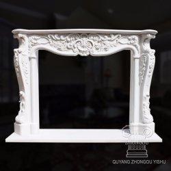 Sculpture sur pierre de granit Décoration maison cheminée en marbre Surround