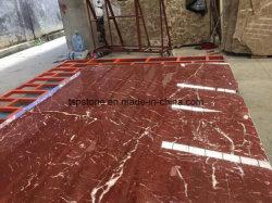 Nueva losa de mármol de Rosso Levanto para la pared interior