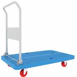 De uitstekende kwaliteit die Vlakke de Vrachtwagen vouwen van de Hand van het Platform van het Handvat Dolly Kar