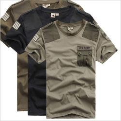 Commerce de gros Casual Coton T-shirt personnalisé avec poche