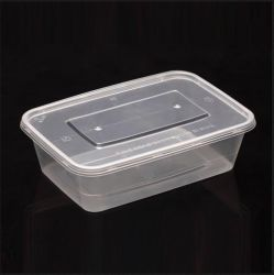 Одноразовые Water-Seal PP пластиковый контейнер для продуктов питания с крышками (650 мл)