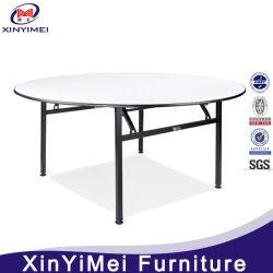 Chinese ijzeren lijst rond opvouwbaar Dineren PVC tafel voor 8-12 Persoon
