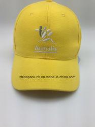 100% coton sergé brosse Baseball Cap jaune (CPA_31077)