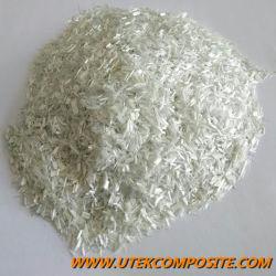 Longueur de fibre de verre 4,5mm haché Strand Fibre de verre pour PP