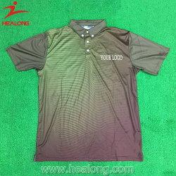 Импортировать Healong технология термосублимации красителей Mens Гольф Поло T футболки на заказ