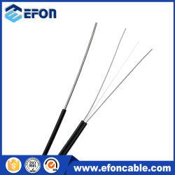 Revestimiento de PVC LSZH FTTH plana cubierta de fibra óptica Cable caída