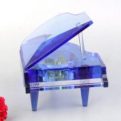 Personifizierte Engraving Crystal Piano Spieluhr für Wedding Gift