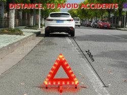 Аккумуляторы и складные светодиод трафика треугольник с системной платы с подставкой аварийный фонарь по безопасности дорожного движения