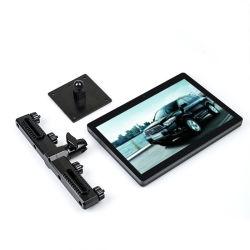 Un tassì da 10 pollici che fa pubblicità al video Android mobile del poggiacapo dell'automobile del ridurre in pani di 4G Lte