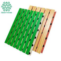 Studio Auditorium mur rainure insonorisées panneau en bois MDF Panneaux de plafond coupe-feu de Texture Bois Conseil acoustique