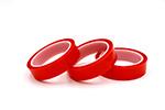 Rotes Polyester-Hochtemperatursilikon-selbstklebendes Band