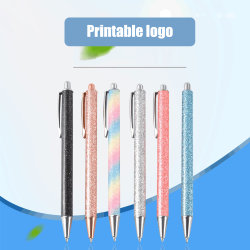 Venta al por mayor Shining Creative Gifts Soft Metal Ballpoint Pen promocional Top Bolígrafo de la calidad de la publicidad