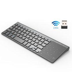 Tastiera senza fili sottile del USB 2.4GHz mini con la tastiera numerica del Touchpad di numero per il ridurre in pani Android di Windows, tavolo, computer portatile, PC