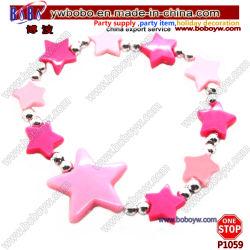 Productos para bebés Kid's Bracelet accesorios hechos a mano de la cuerda elástica estrellas encanto Pulsera (P1059)