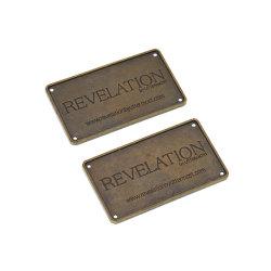 شعار العلامة التجارية للأثاث البرونزي ذو الألواح المعدنية المصبوبة المخصصة